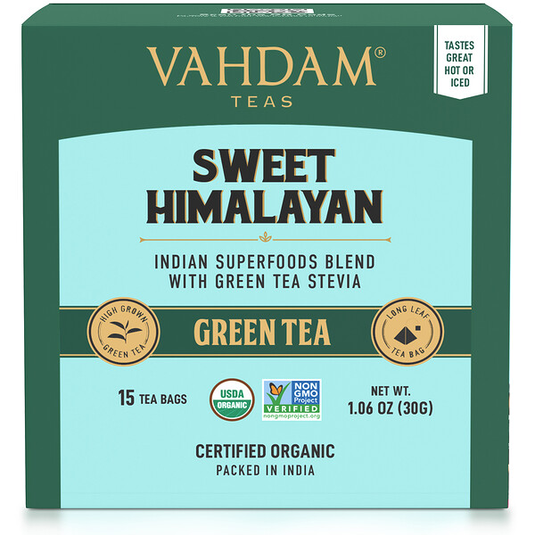 Green Tea, Sweet Himalayan, 15 Tea Bags, 1.06 oz (30 g)