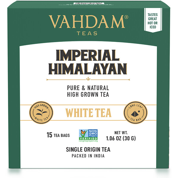 White Tea, Imperial Himalayan, 15 Tea Bags, 1.06 oz (30 g)