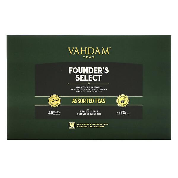 Founder's Select, Assorted Teas, 40 Tea Bags, 2.82 oz (80 g)