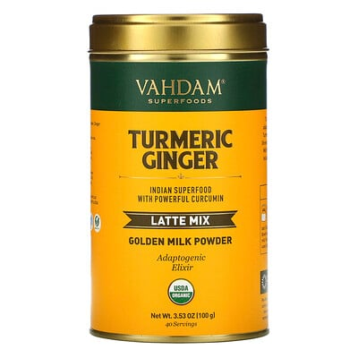 Купить Vahdam Teas Latte Mix, Turmeric Ginger, 3.53 oz (100 g)