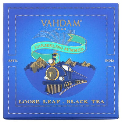 Купить Vahdam Teas Loose Leaf Black Tea, Darjeeling Summer Gift Set, 1 Tin Caddy