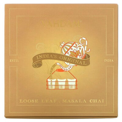 Купить Vahdam Teas Loose Leaf Masala Chai, India's Original Gift Set, 1 Tin Caddy