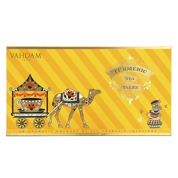 Vahdam Teas, Turmeric Tea Tales Set, 6 Pieces