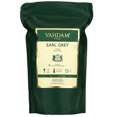 Vahdam Teas Early Grey, Citrus Black Tea, 16.01 oz (454 g)