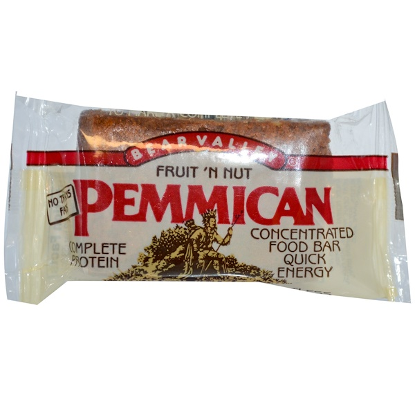 Bear Valley, Pemmican Concentrated Food Bar, Fruit 'N Nut, 3.75 oz (106.4 g) (Discontinued Item)