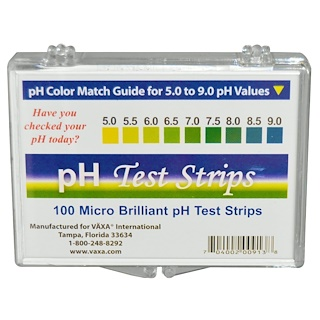 Vaxa International, pH Test Strips, 100 Strips