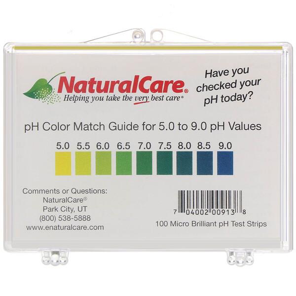 NaturalCare, pH 試験紙ストリップ、100 ストリップ