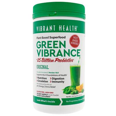Купить Vibrant Health Green Vibrance +25млрд пробиотиков, версия16.0, 354г (12, 5унции)