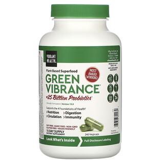 Vibrant Health, Green Vibrance، الإصدار 19.0، 240 كبسولة نباتية