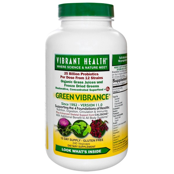 Vibrant Health, Green Vibrance, Version 17.0,240 VegiCaps