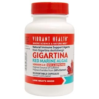 Vibrant Health, Gigartina, Red Marine Algae, Version 2.0, 90 Vegetable Capsules