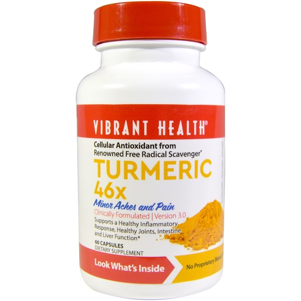 Vibrant Health, Turmeric 46X, Version 3.0, 60 Capsules (Discontinued Item)