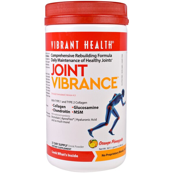Vibrant Health, Vibrance articulations, version 4.3, ananas orange, 367,5 g