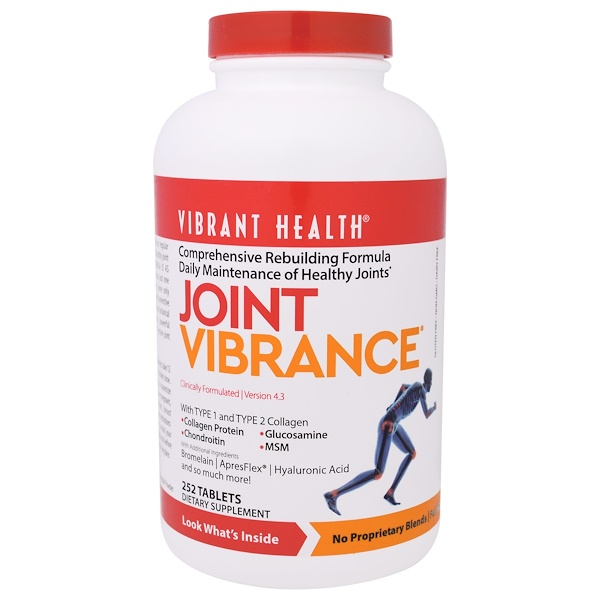 Vibrant Health, Joint Vibrance, Version 4.3, 252 Tablets (Discontinued Item)