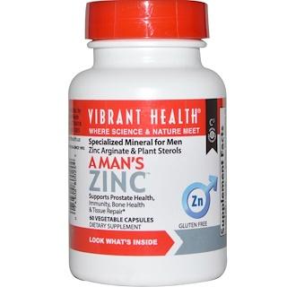 Vibrant Health, A Man's Zinc, 60 Veggie Caps