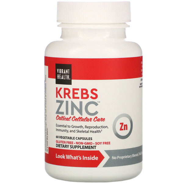 Krebs Zinc, 60 Vegetable Capsules