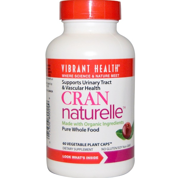 Vibrant Health, Cran Naturelle, 60 Veggie Plant Caps (Discontinued Item)