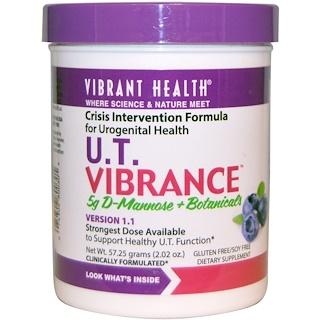 Vibrant Health, U.T. Vibrance, 5 g D-Mannose + Botanicals, Version 1.1, 2.02 oz (57.25 g)