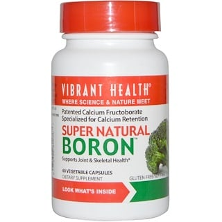 Vibrant Health, Boro Super Natural, 60 Cápsulas Vegetales