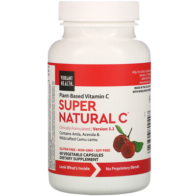 Купить Vibrant Health Super Natural C, Version 3.2, 60 Vegetable Capsules