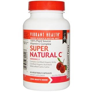 Vibrant Health, スーパーナチュラルC、 バージョン3.1、 60ベジキャップ