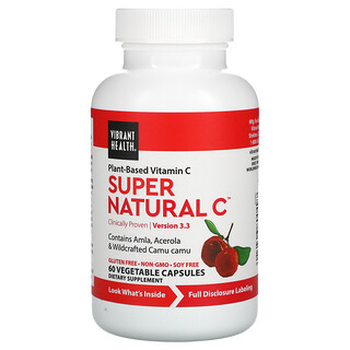 Vibrant Health, Super Natural C, Version 3.3, 60 Vegetable Capsules