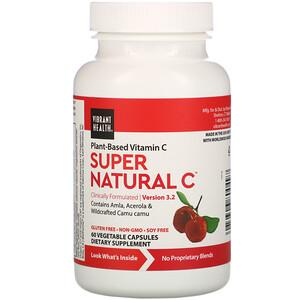 Вибрант Хэлт, Super Natural C, Version 3.2, 60 Vegetable Capsules отзывы покупателей