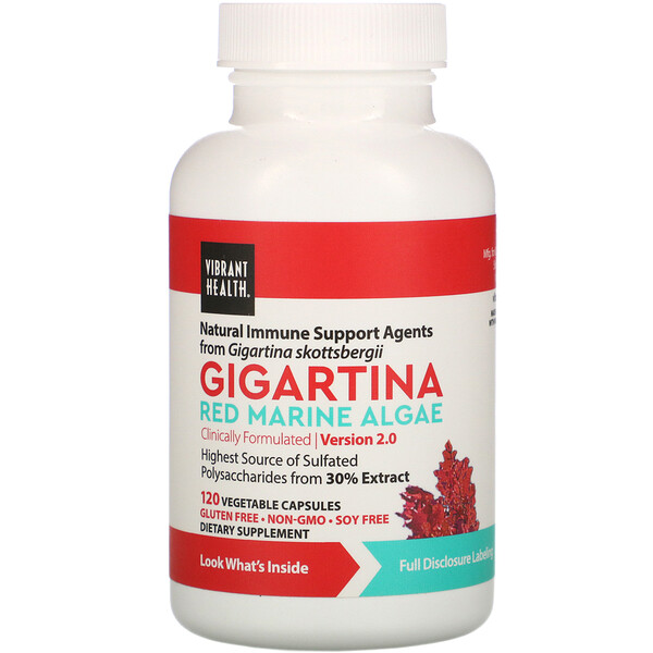 Gigartina, Red Marine Algae, Version 2.0, 120 Vegetarian Capsules
