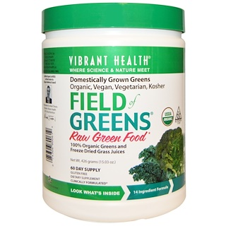 Vibrant Health, Organic Field of Greens, 15.03 oz (426 g)
