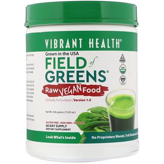 Vibrant Health, Organic Field of Greens, Raw Vegan Food, Version 1.0, 15.03 oz (426 g)