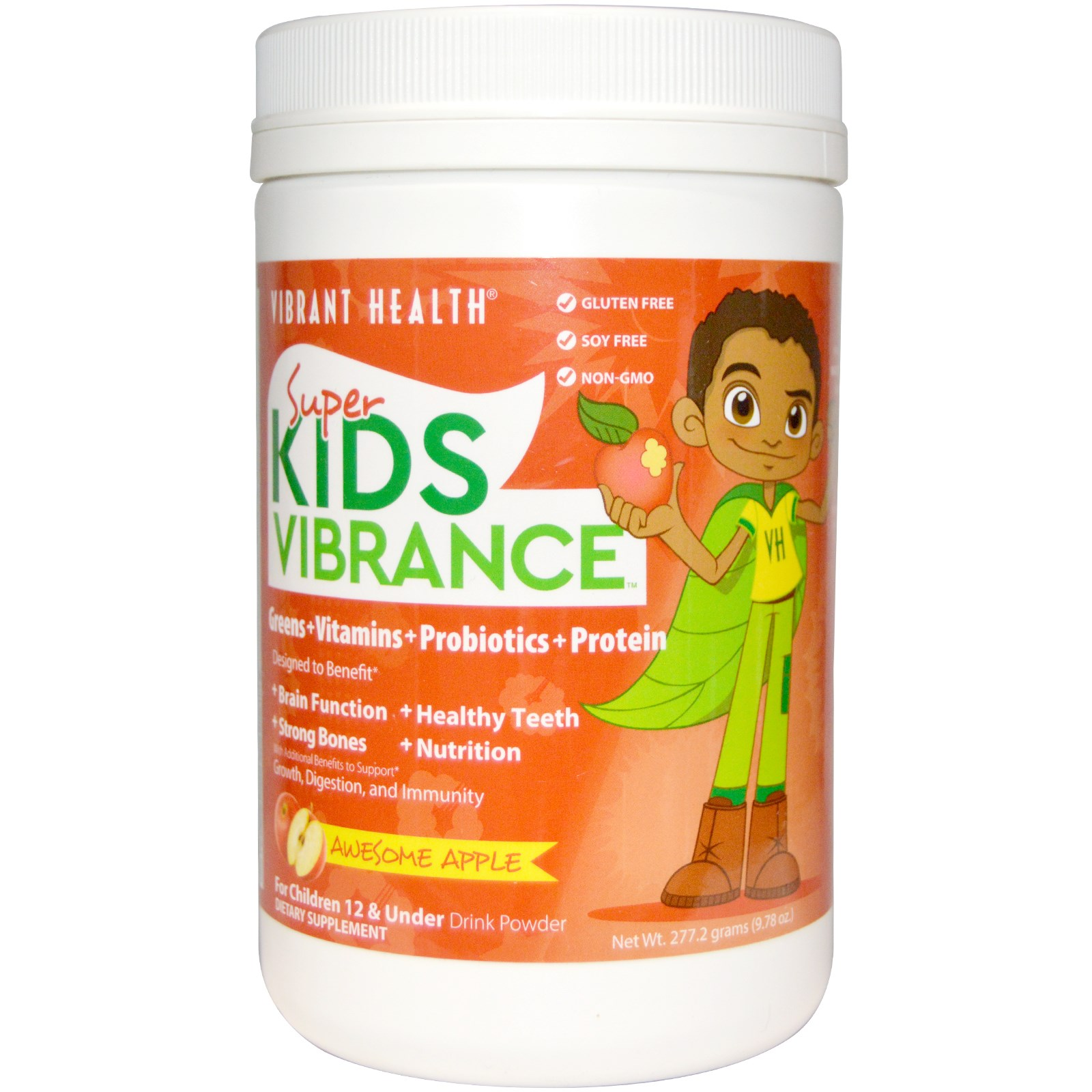Vibrant Health, Super Kids Vibrance, Drink Powder, Awesome Apple ...