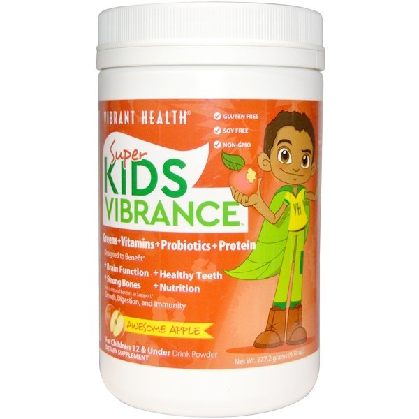 Vibrant Health, Super Kids Vibrance, Drink Powder, Awesome Apple, 9.78 oz (277.2 g) (Discontinued Item)