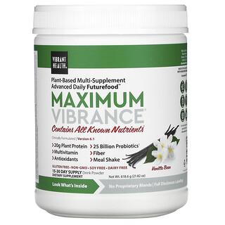 Vibrant Health, Maximum Vibrance, Version 6.1, Vanilla Bean, 618.6 g (21.82 oz)