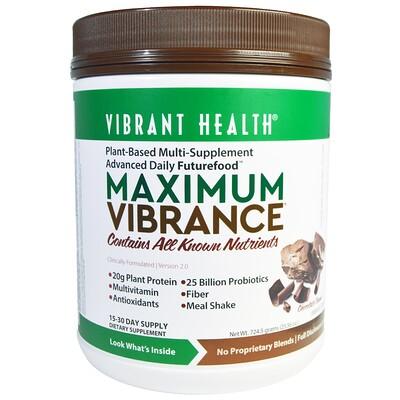 Купить Vibrant Health Maximum Vibrance, версия 2.0, кусочки шоколада, 724, 5 г (1, 6 фунта)
