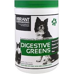 Vibrant Health, Digestive Greens, مكملات غذائية للكلاب والقطط، 7.51 أوقية (213 غرام)