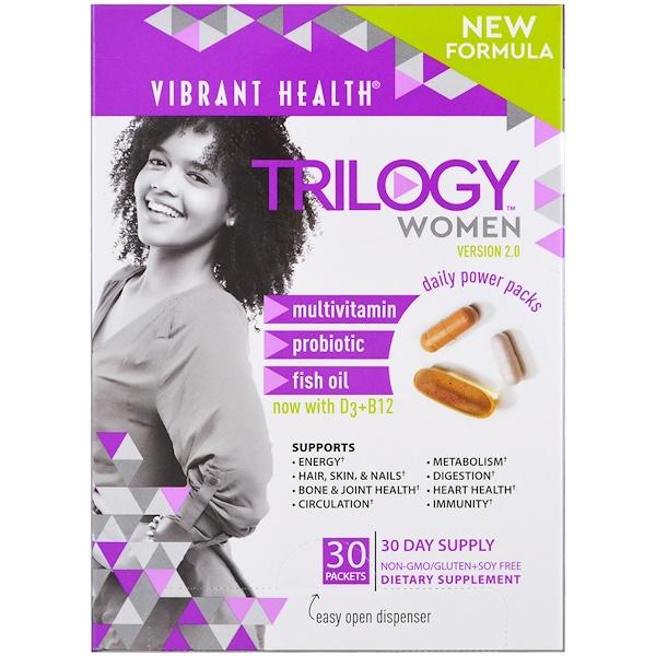 Vibrant Health, トリロジー・ウィメン、デイリーパワーパック、バージョン2.0、30袋 (Discontinued Item)
