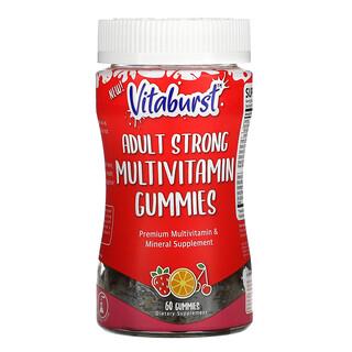 Vitaburst, Adult Strong Multivitamin Gummies, Strawberry, Orange & Cherry,  60 Gummies