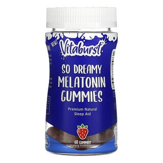 Vitaburst, So Dreamy Melatonin Gummies, Strawberry, 60 Gummies