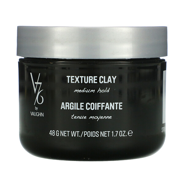 V76 By Vaughn, Texture Clay, Medium Hold, 1.7 oz (48 g) (Discontinued Item)