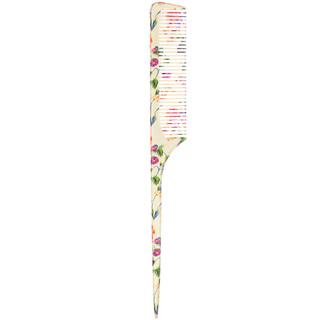 The Vintage Cosmetic Co., Tail Comb, Fabulously Floral, 1 Count