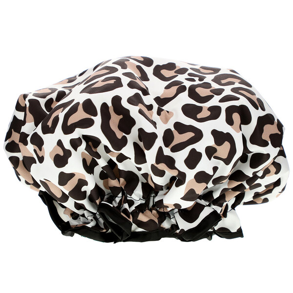 Shower Cap, Leopard Print, 1 Count
