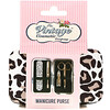 The Vintage Cosmetic Co., Manicure Purse, Leopard Print, 1 Kit
