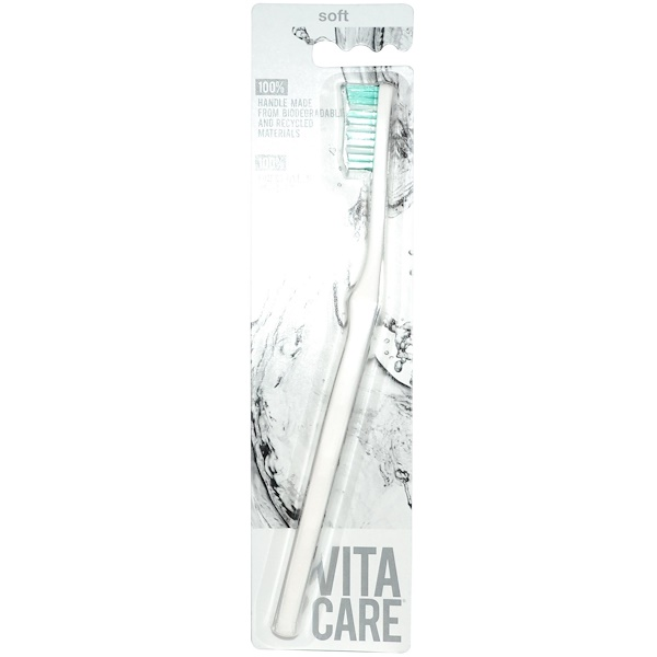 Vitacare, Toothbrush, Soft, White, 1 Toothbrush (Discontinued Item)