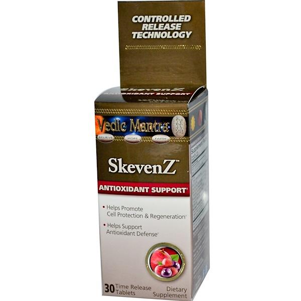 Vedic Mantra, SkevenZ, Antioxidant Support, 30 Time Release Tablets (Discontinued Item)