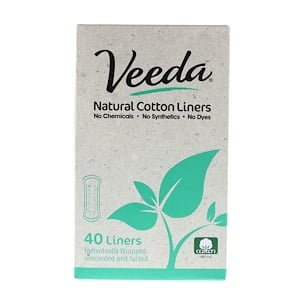 Veeda, Natural Cotton Liners, Unscented, 40 Liners отзывы покупателей