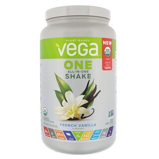 Vega, Un, Secousse Tout-en-un, Vanille française, 24,3 onces (689 g)