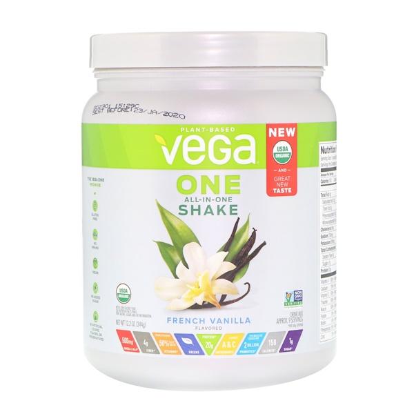 Vega, One,全合一奶昔,法國香草,12、2盎司(344克)