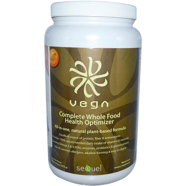Vega, Complete Whole Food Health Optimizer, Chocolate Flavor, 37.8 oz (1073 g) (Discontinued Item)
