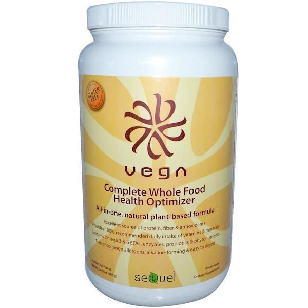 Vega, Complete Whole Food Health Optimizer, Vanilla Chai Flavor, 34.9 oz (988 g) (Discontinued Item)