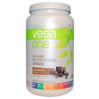 Vega, 베가 원 셰이크, 초콜릿, 30.9 oz (876 g)
